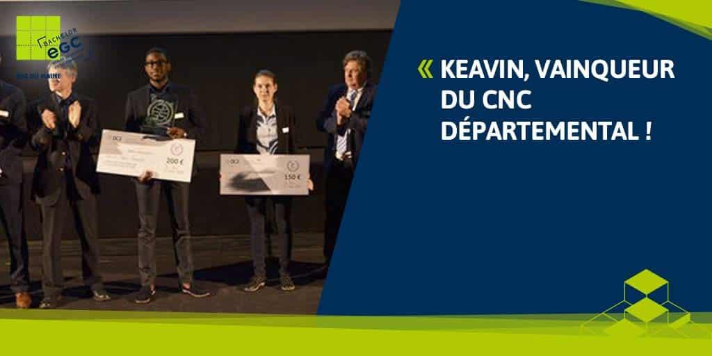 Keavin, vainqueur du CNC départemental !