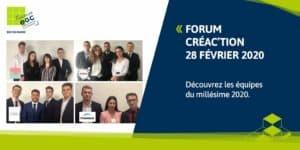 FORUM CREA'CTION : découvrez les équipes du millésime 2020