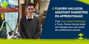 Flavien Halligon, assistant marketing chez un chocolatier d'exception au Mans.