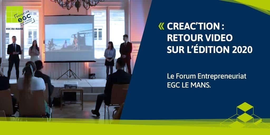 EGC LE MANS : retour sur Créac'tion 2020